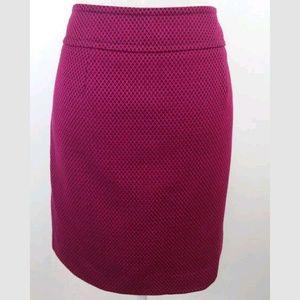 Ann Taylor Loft Skirt Size 8 Shirt Pink Black